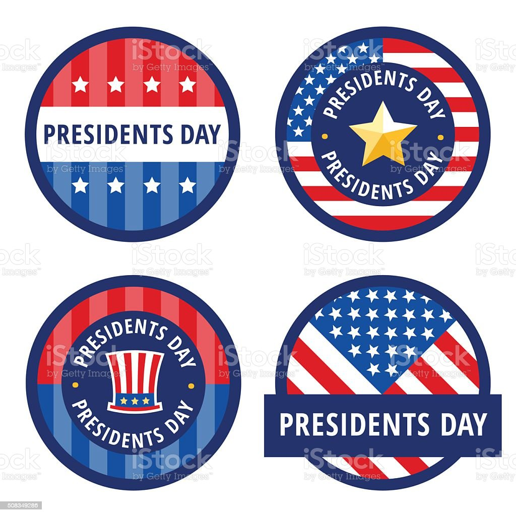 Badge greetings for Presidents day vector art illustration