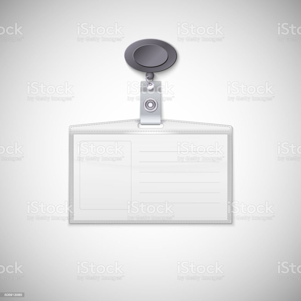 Badge holder vector art illustration