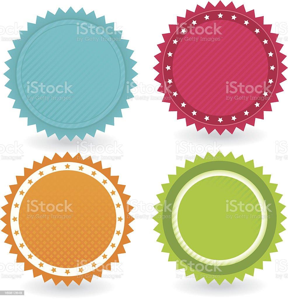 badge Set Icons vector art illustration