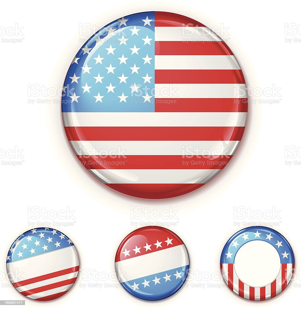 USA Badge Set vector art illustration