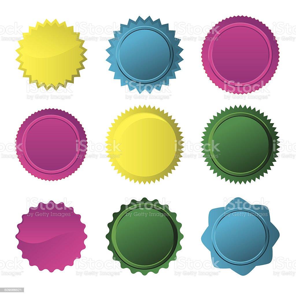Badge Set- vector vector art illustration