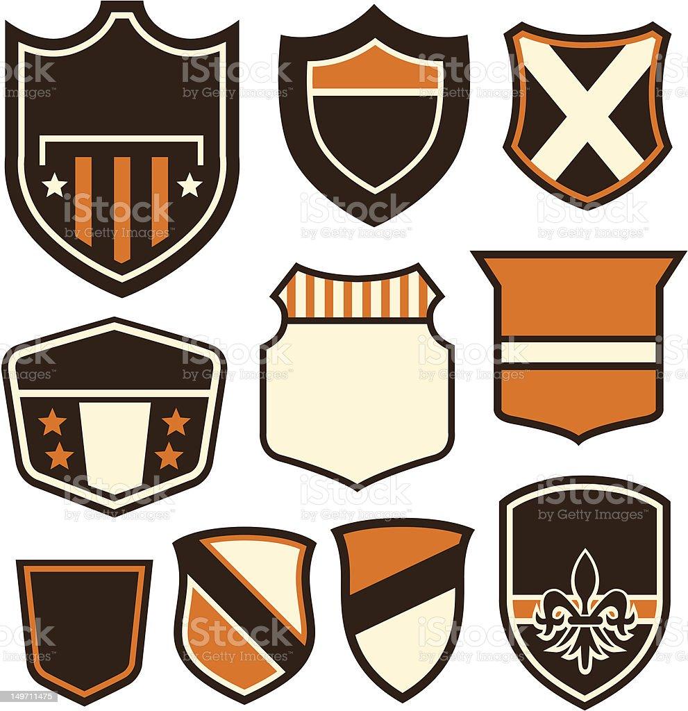 Simbolo di design distintivo illustrazione royalty-free