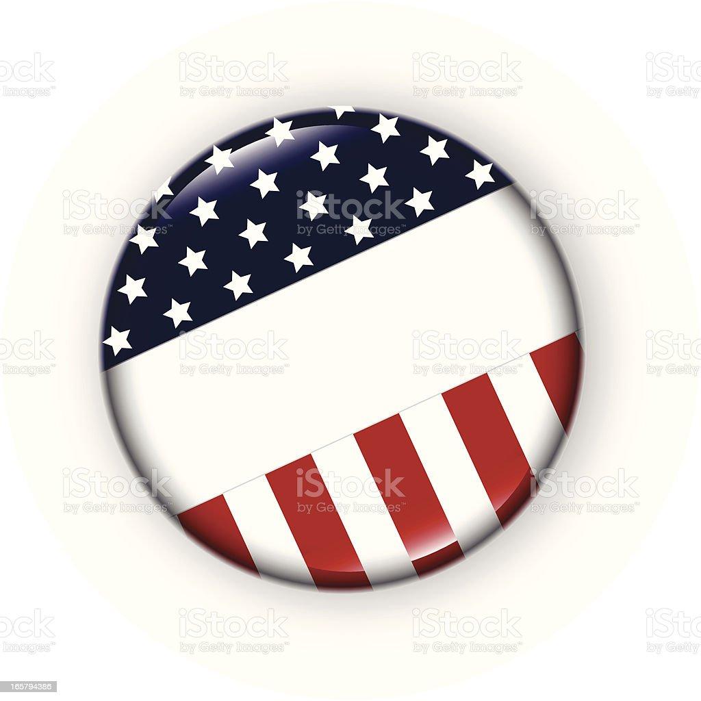 USA Badge vector art illustration