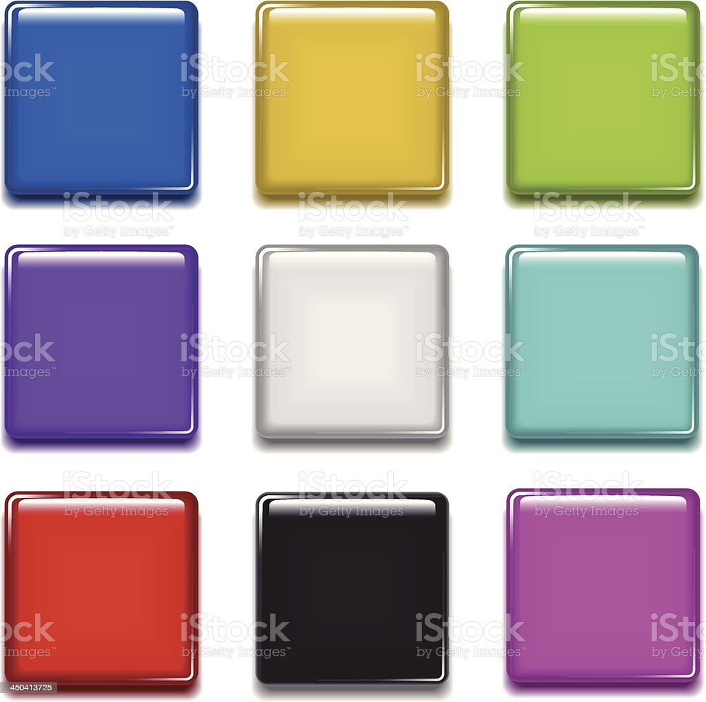Badge (rounded square) vector art illustration