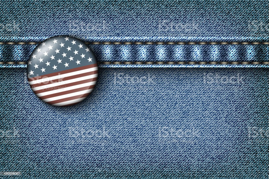 Badge with the American flag royalty-free stock vector art