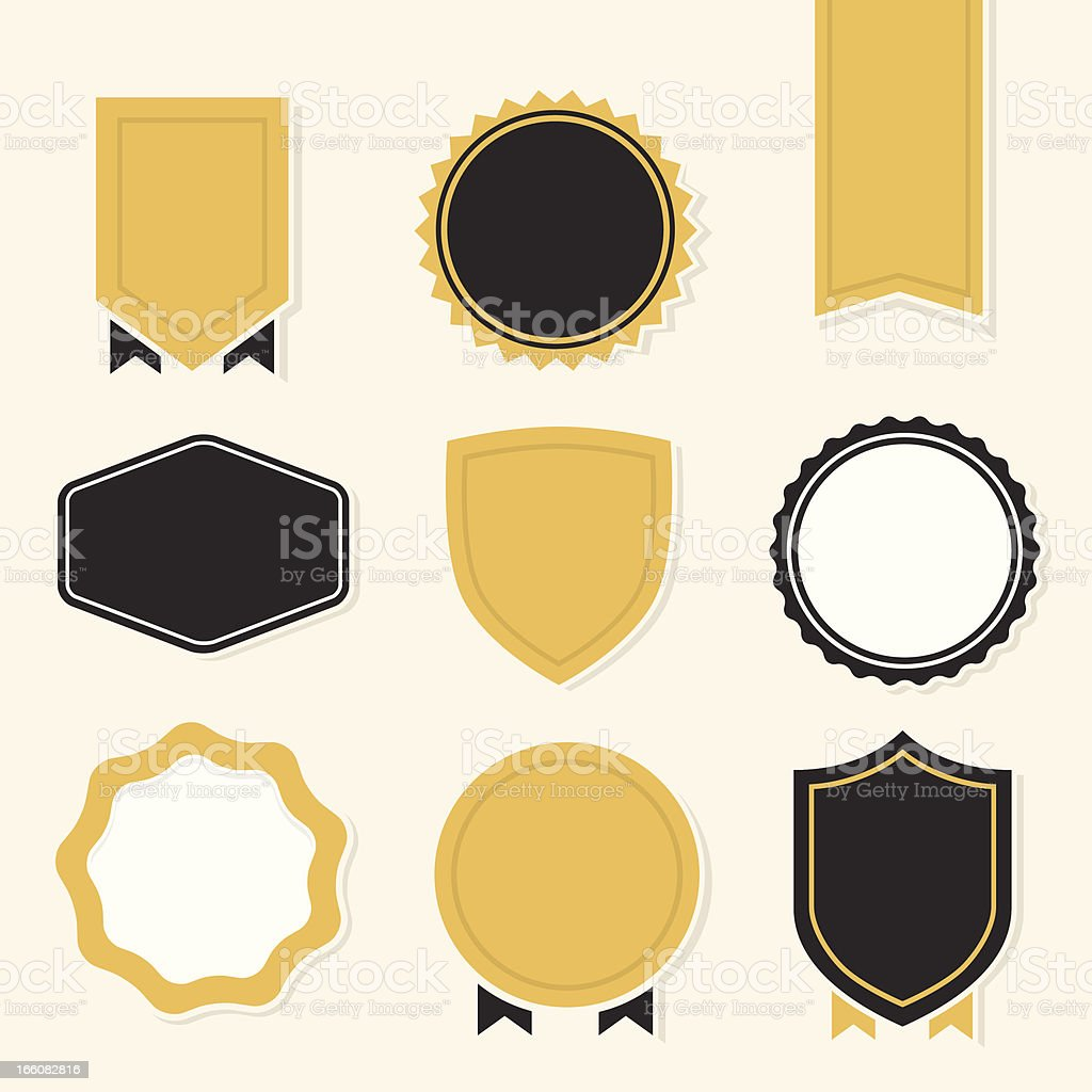 Badges and Crests vector art illustration