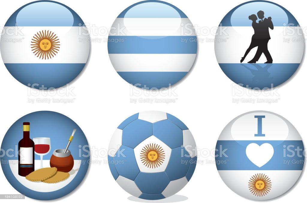 Badges - Argentina vector art illustration