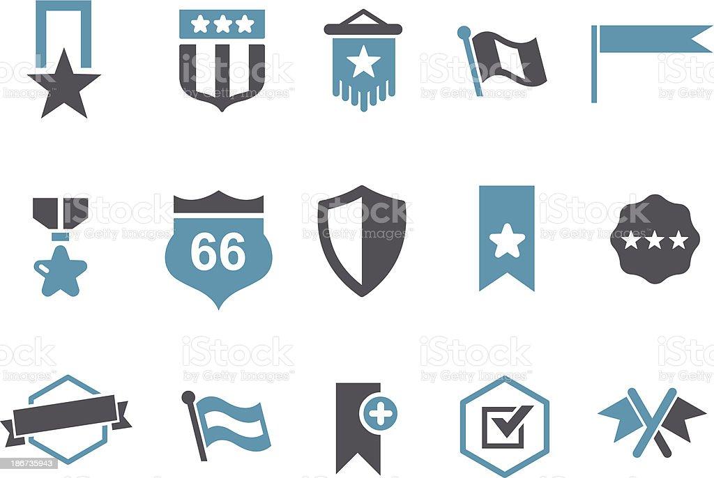 Badges Icon Set royalty-free stock vector art