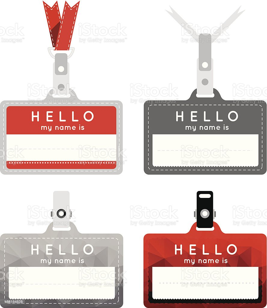 Badges in the style of a flat design vector art illustration