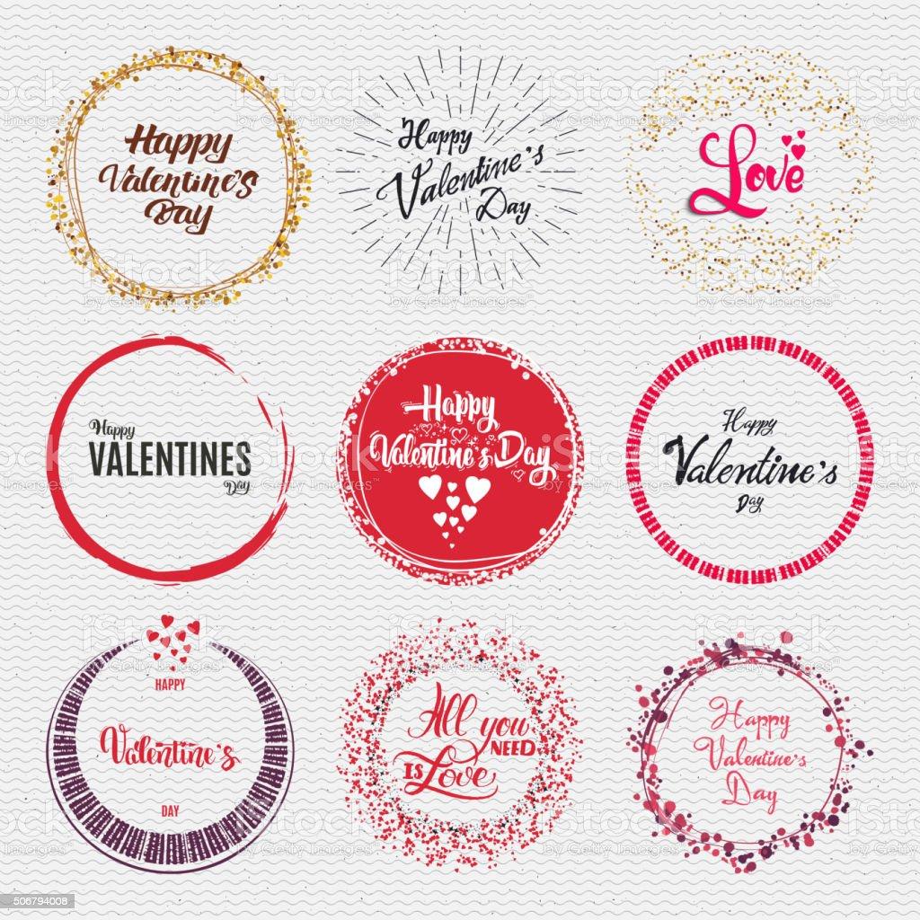 Badges Snowboard handmade designed brush lettering, for design presentations vector art illustration