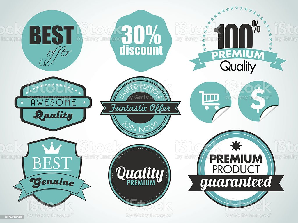 badges royalty-free stock vector art