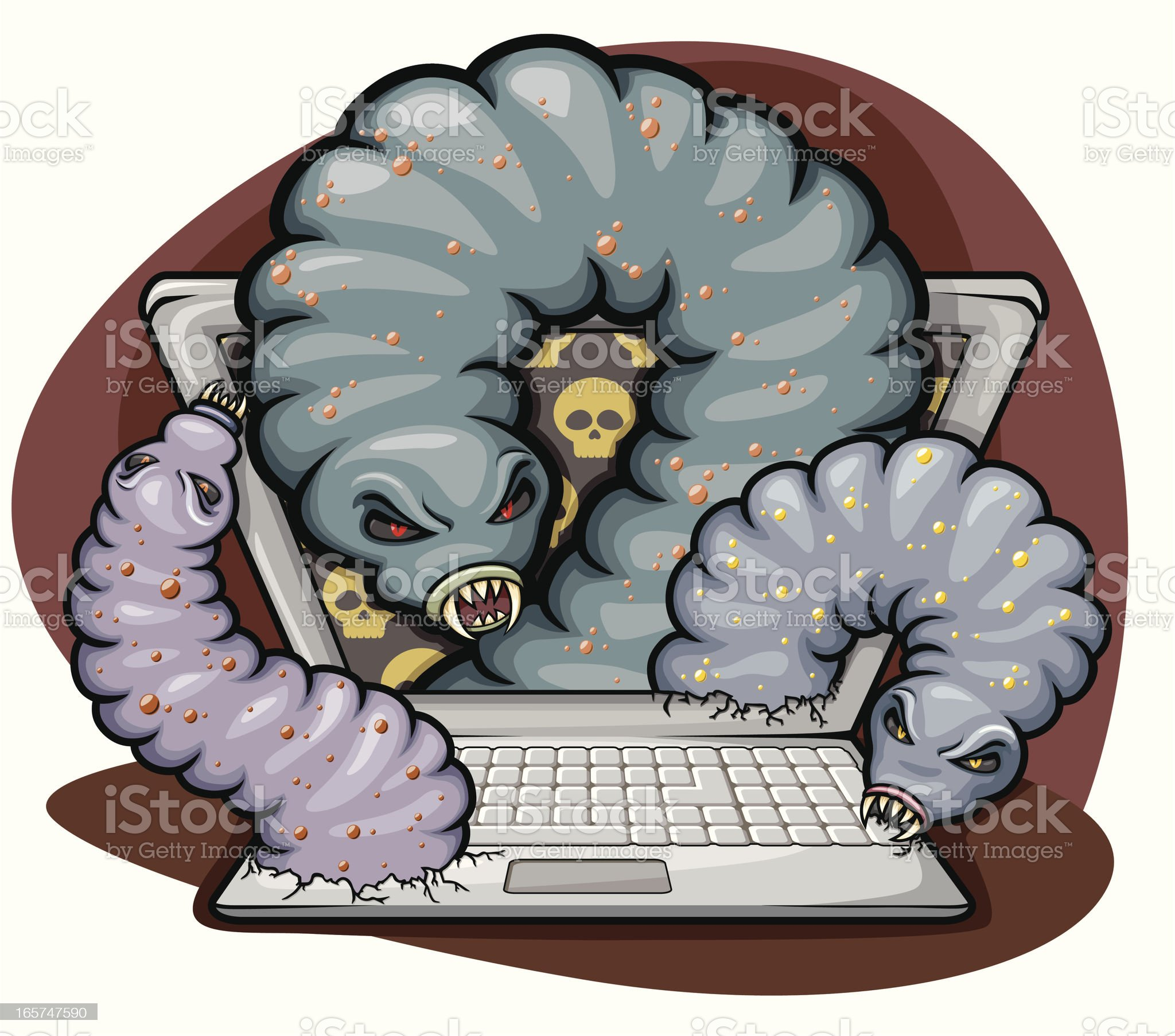badly infected computer royalty-free stock vector art
