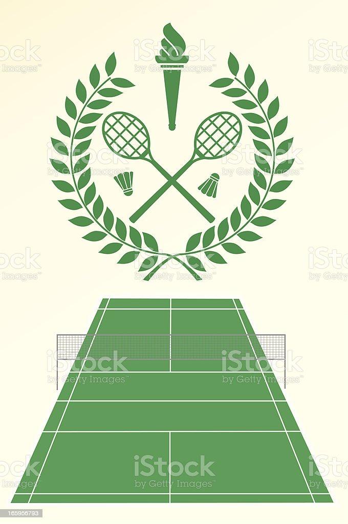 Badminton emblem royalty-free stock vector art