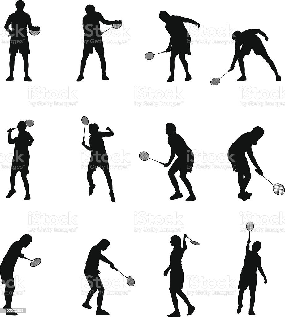 Badminton Players royalty-free stock vector art