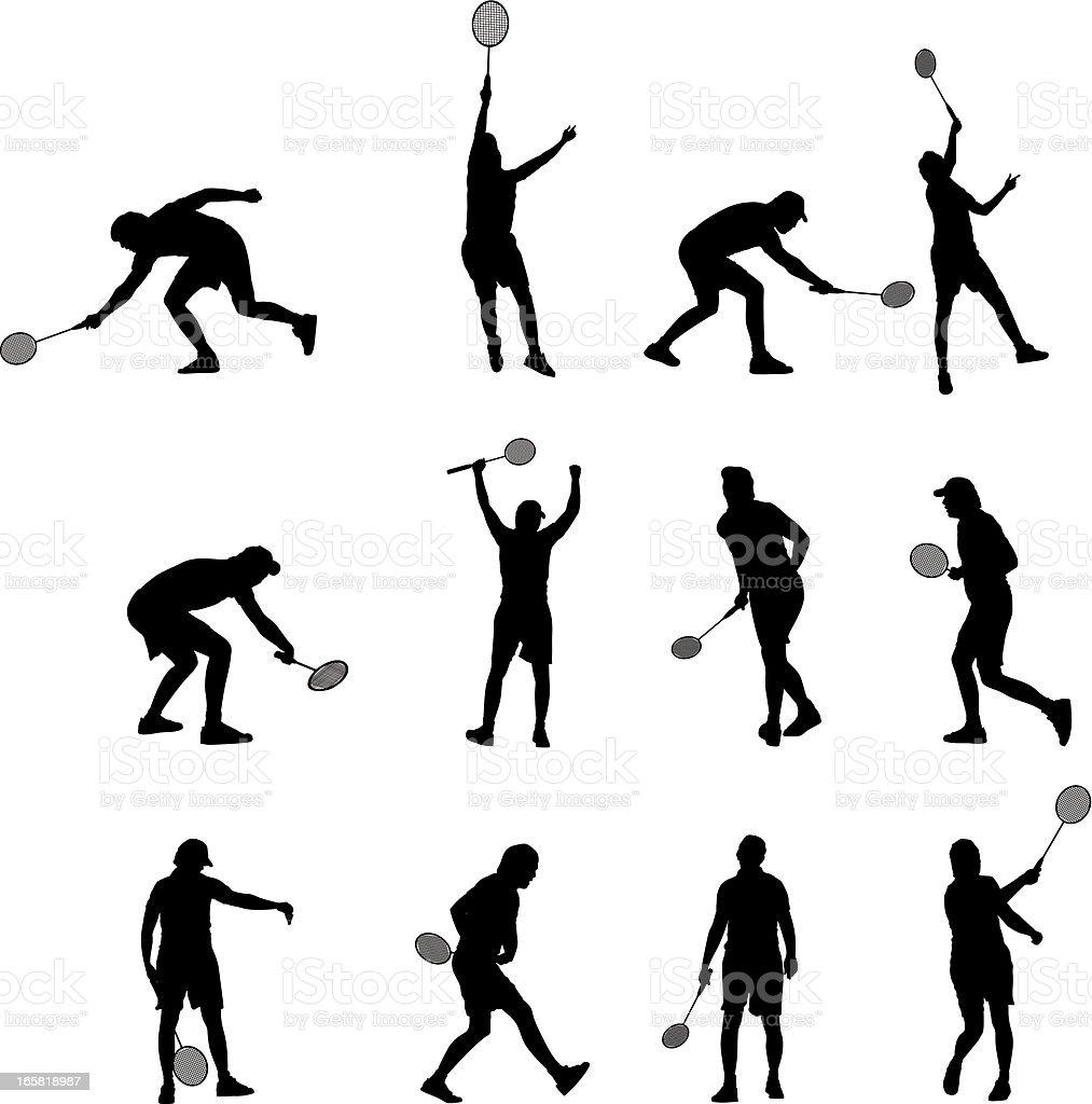 Badminton players royalty-free stock vector art