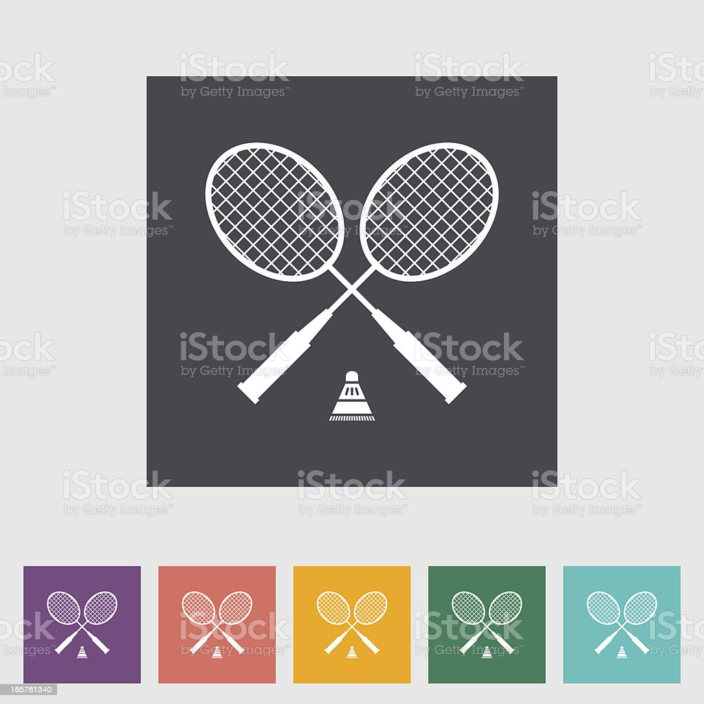 Badminton royalty-free stock vector art