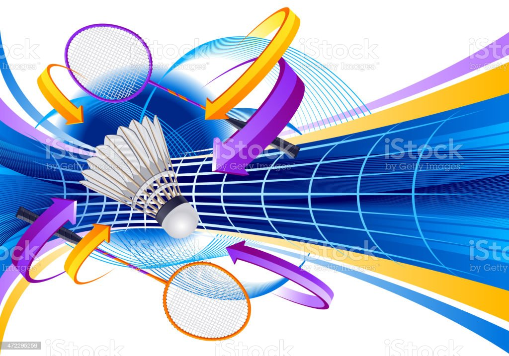 Badminton royalty-free stock vector art