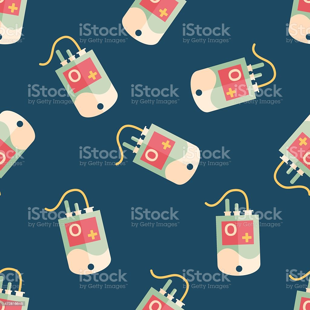 IV bag flat icon, eps10 seamless pattern background vector art illustration