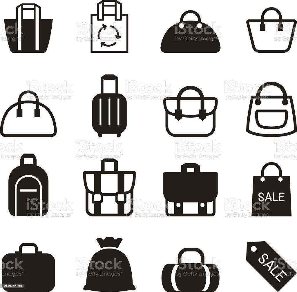 Bag icon vector art illustration