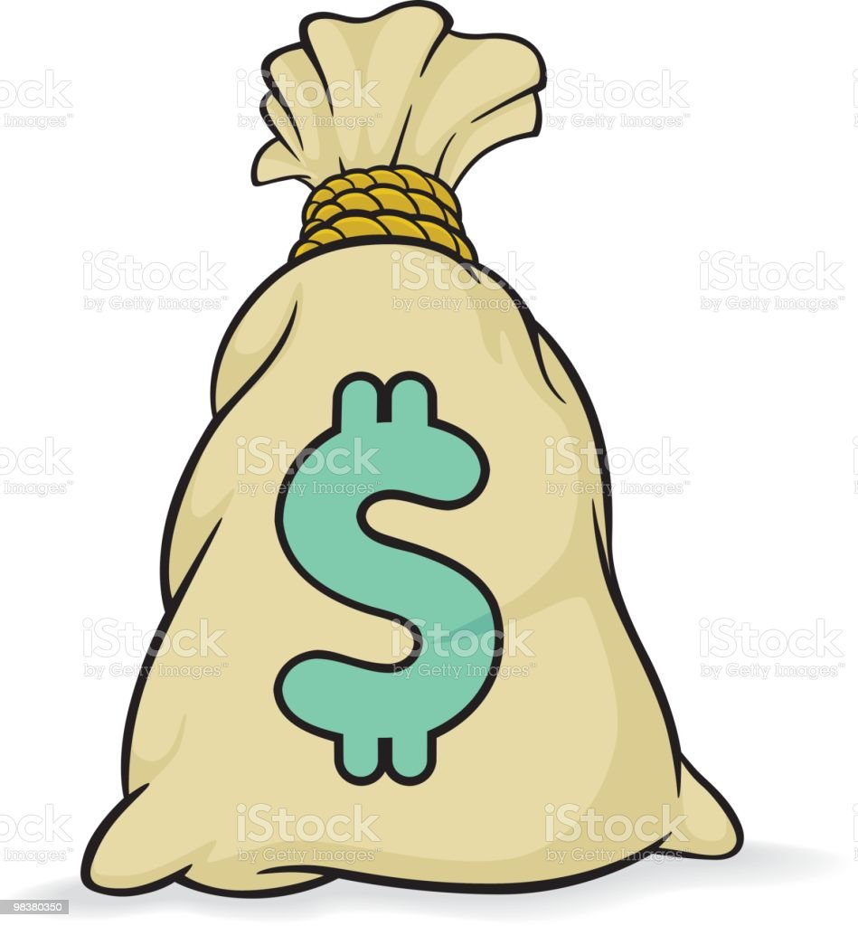 Bag 'o' Cash royalty-free stock vector art