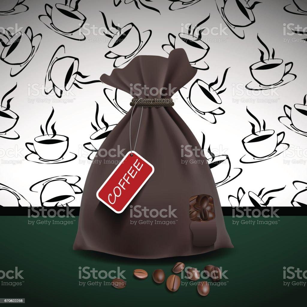 Bag of coffee. Vector illustration vector art illustration