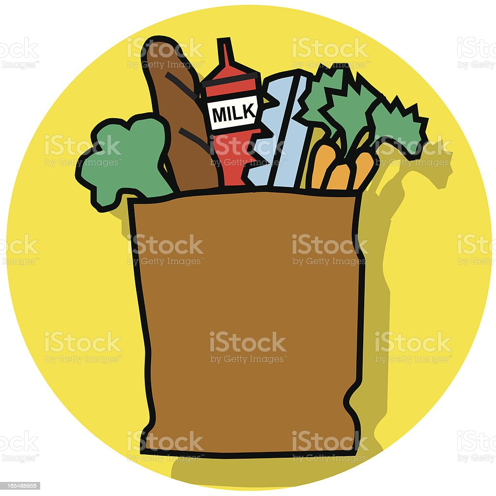 bag of groceries royalty-free stock vector art