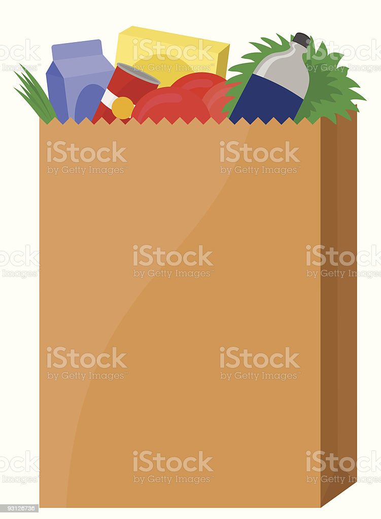 Bag of Groceries royalty-free stock vector art