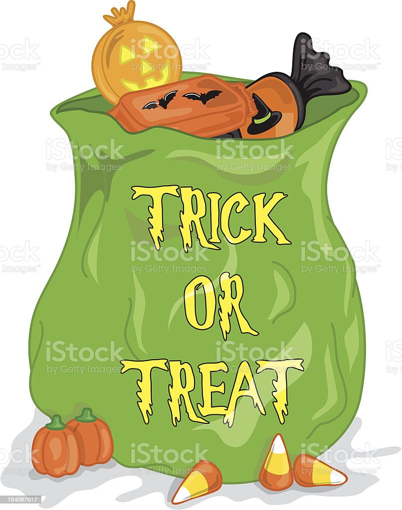 Bag of Halloween candy royalty-free stock vector art