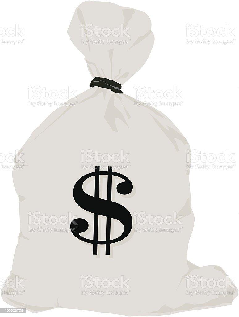 bag of money royalty-free stock vector art