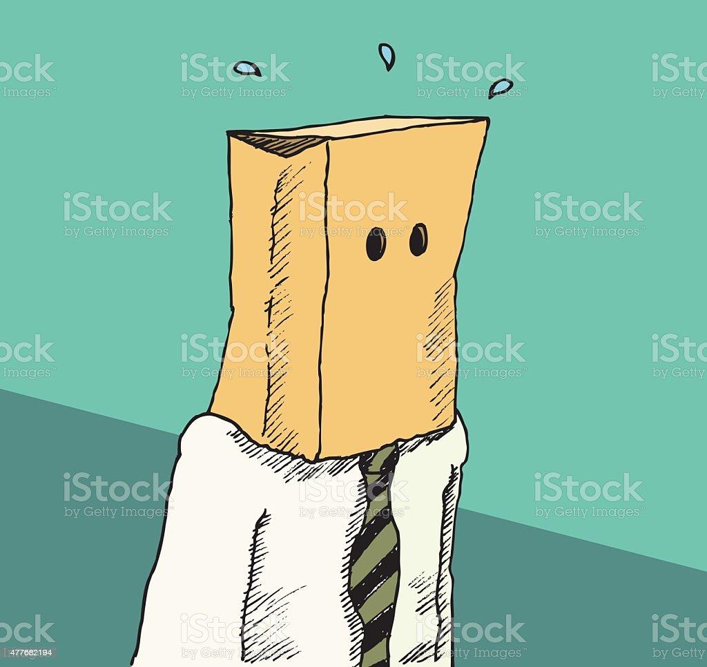Bag on the head vector art illustration