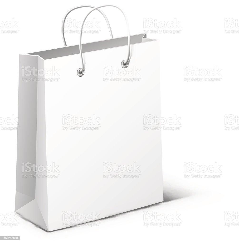 Bag on white background royalty-free stock vector art