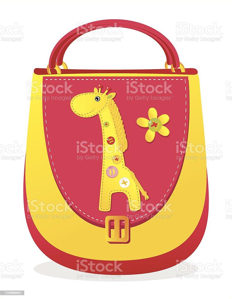 Bag with 'Giraffe'. royalty-free stock vector art