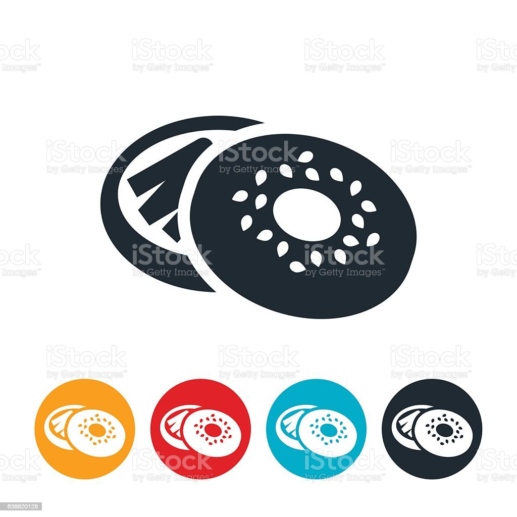 Bagel Icon vector art illustration