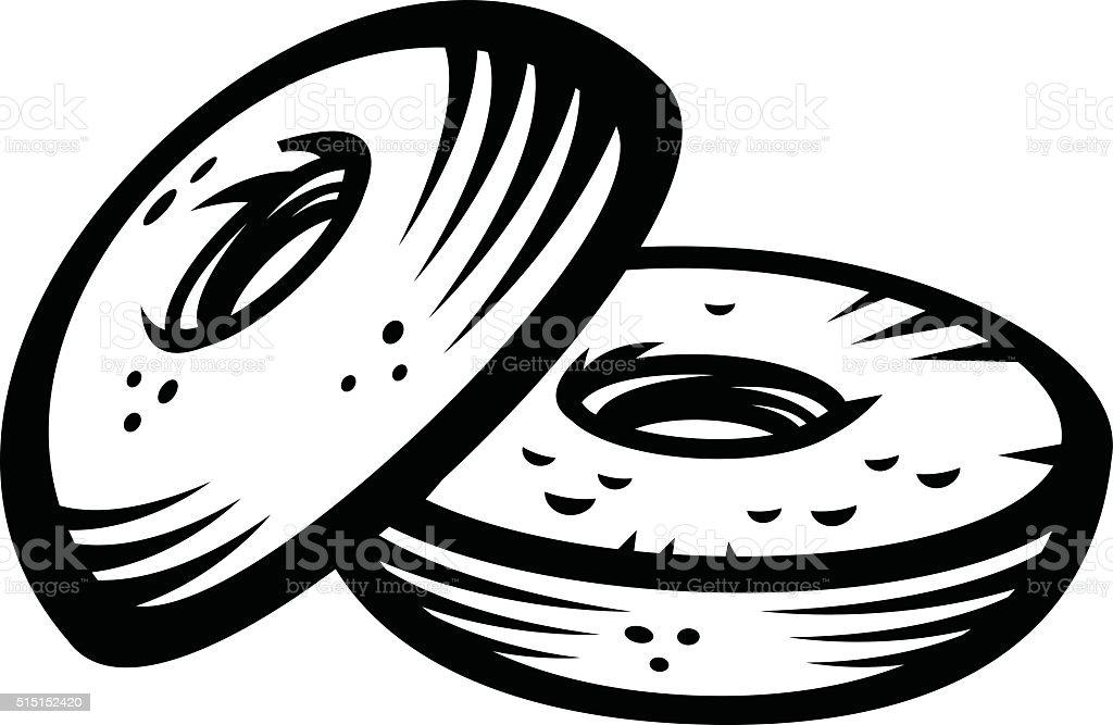 Bagel vector icon vector art illustration