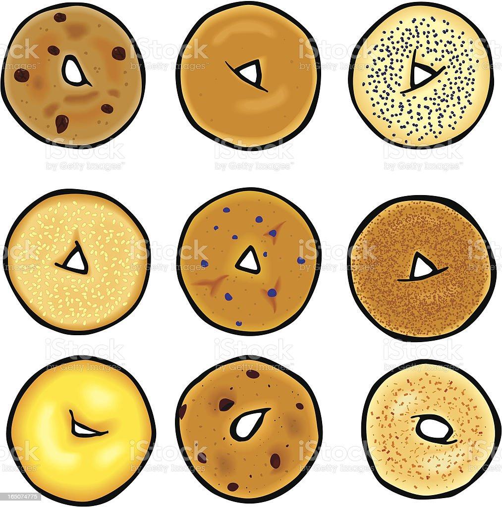 Bagels vector art illustration