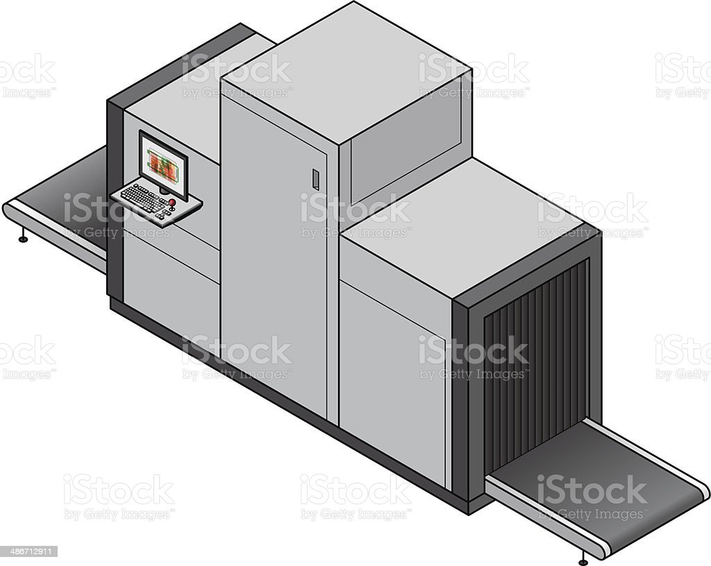 Baggage X-ray Scanner royalty-free stock vector art