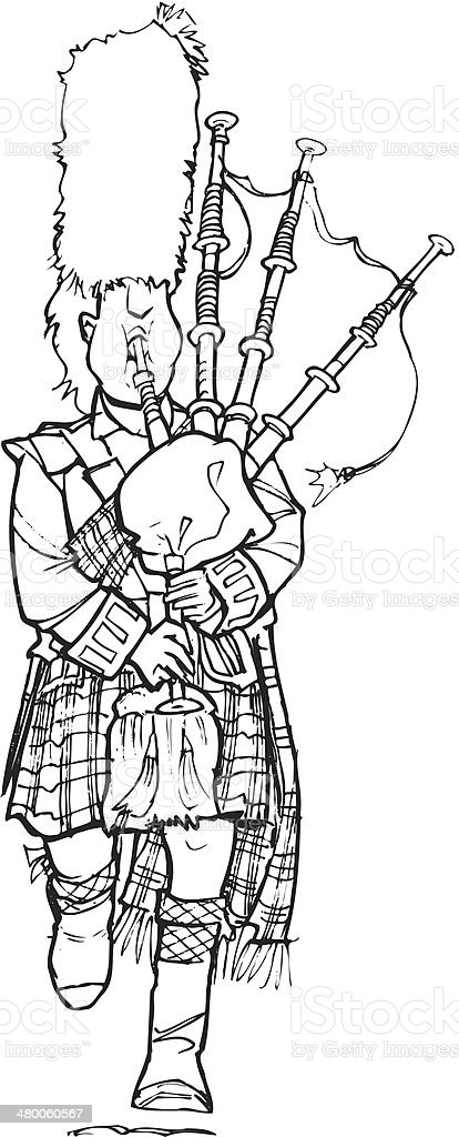 Bagpiper royalty-free stock vector art