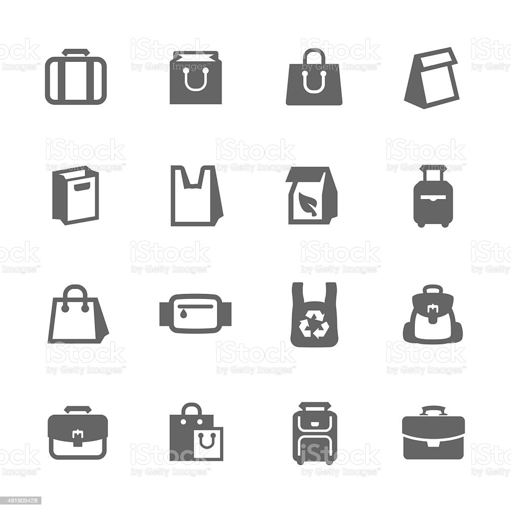 Bags Icons vector art illustration