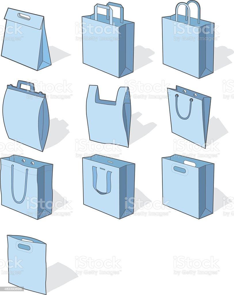 Bags - illustration royalty-free stock vector art