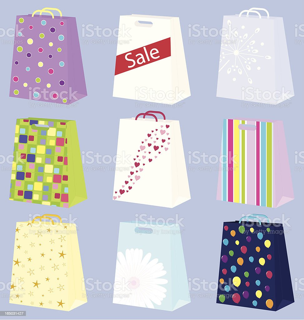 Bags of Fun  - incl. jpeg royalty-free stock vector art