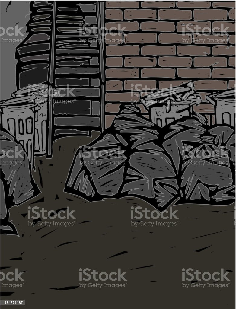 Bags of garbage royalty-free stock vector art