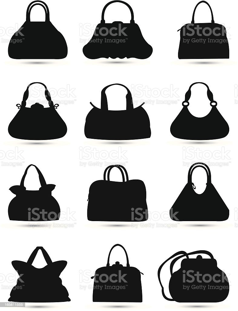bags silhouette royalty-free stock vector art
