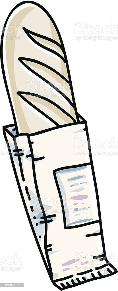 Baguette vector art illustration