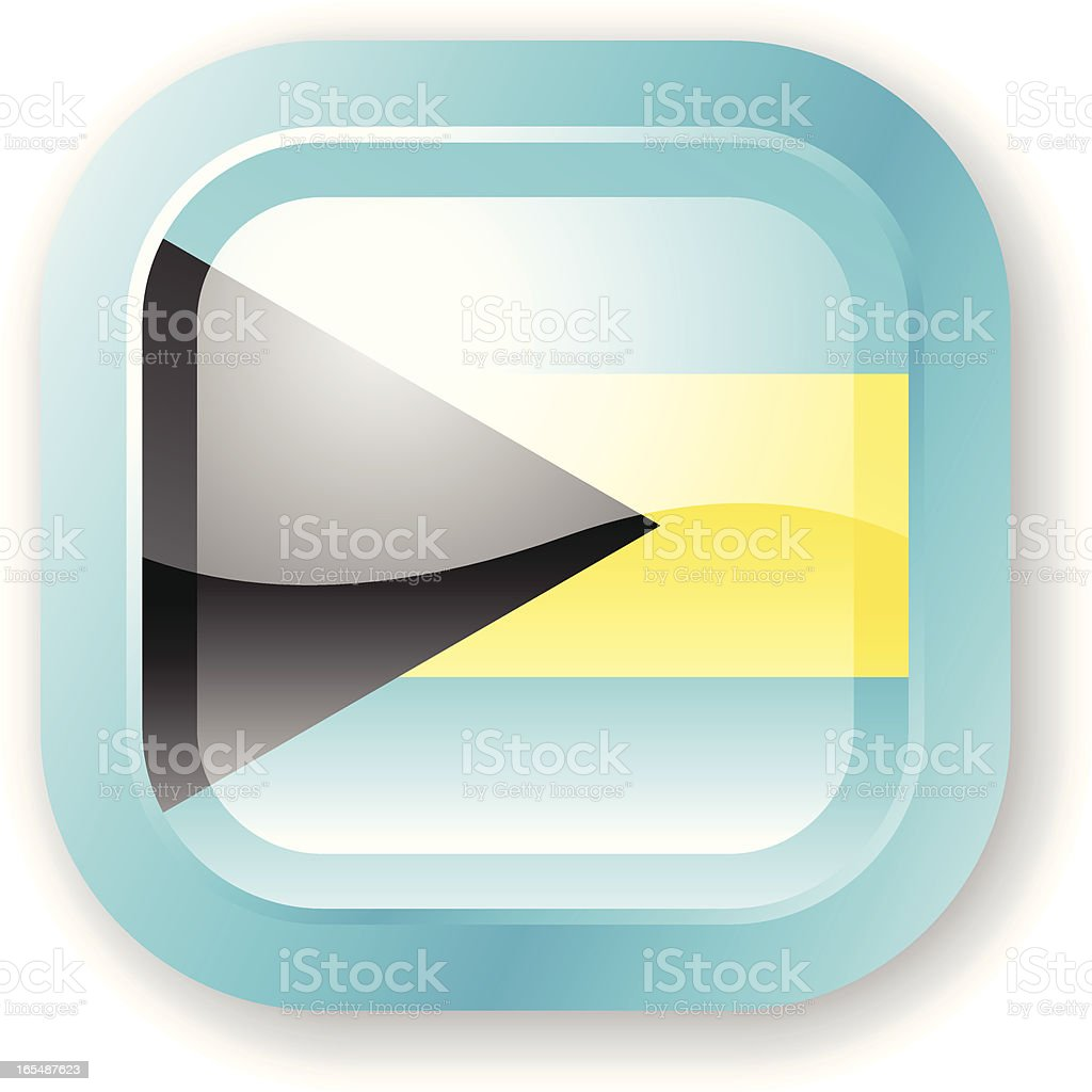 Bahamas Flag Icon royalty-free stock vector art
