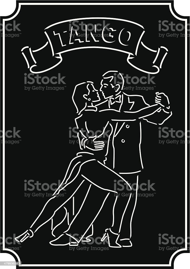 Bailando Tango vector art illustration