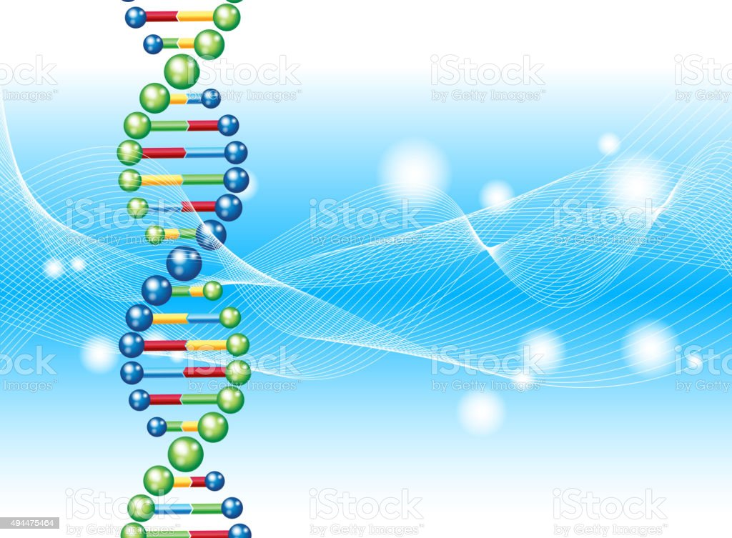 DNA bakcground vector art illustration