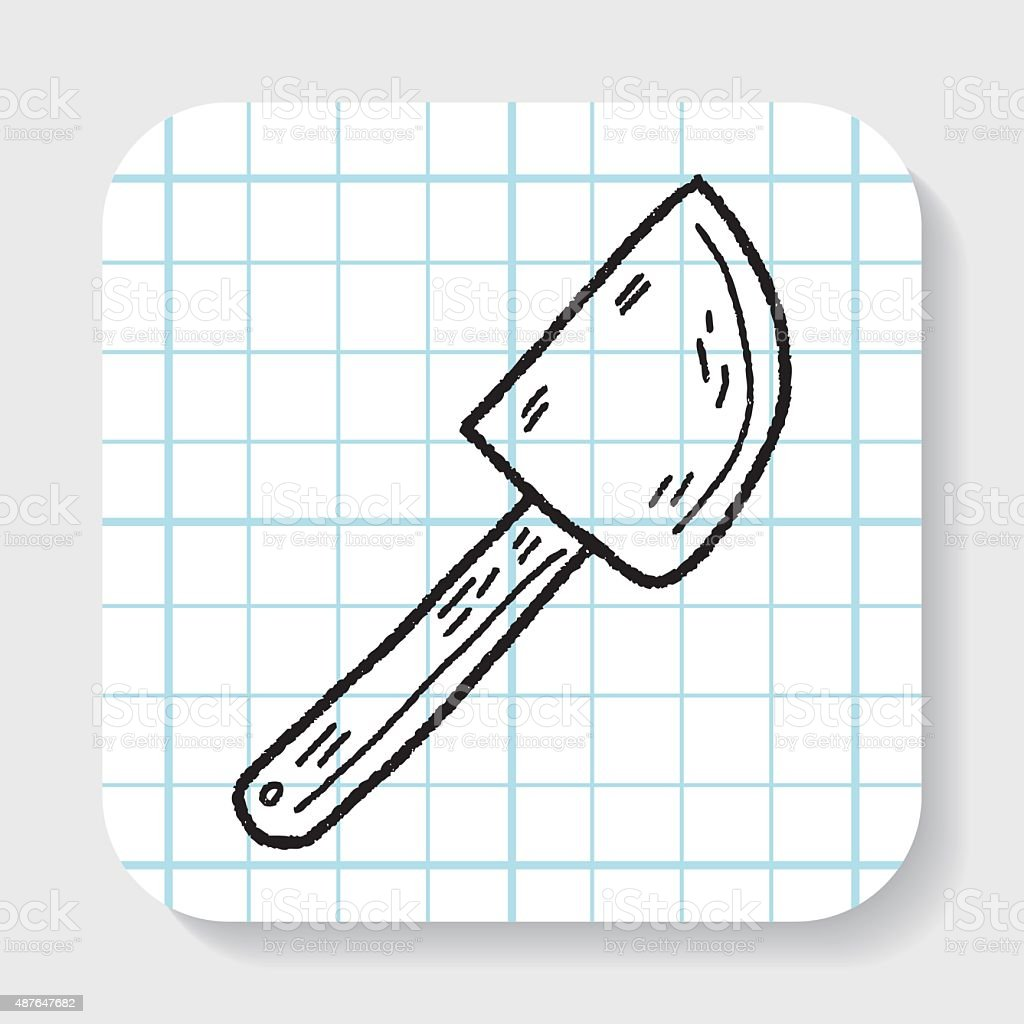 bake beater doodle vector art illustration