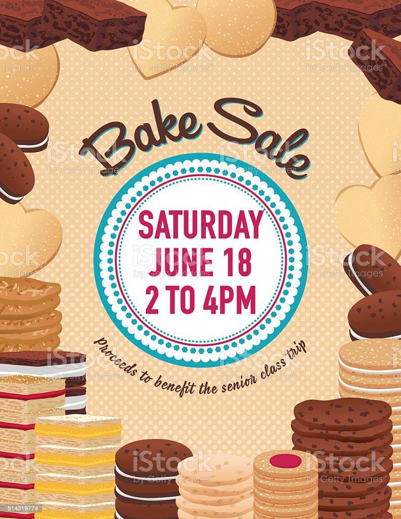 bake poster template cookies brownies and bars stock bake poster template cookies brownies and bars royalty stock vector art
