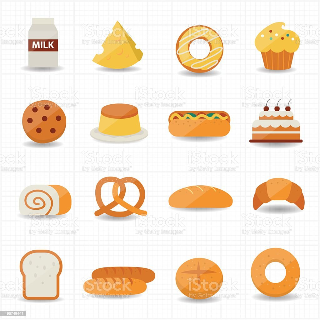 Bakery and Bread Icon vector art illustration