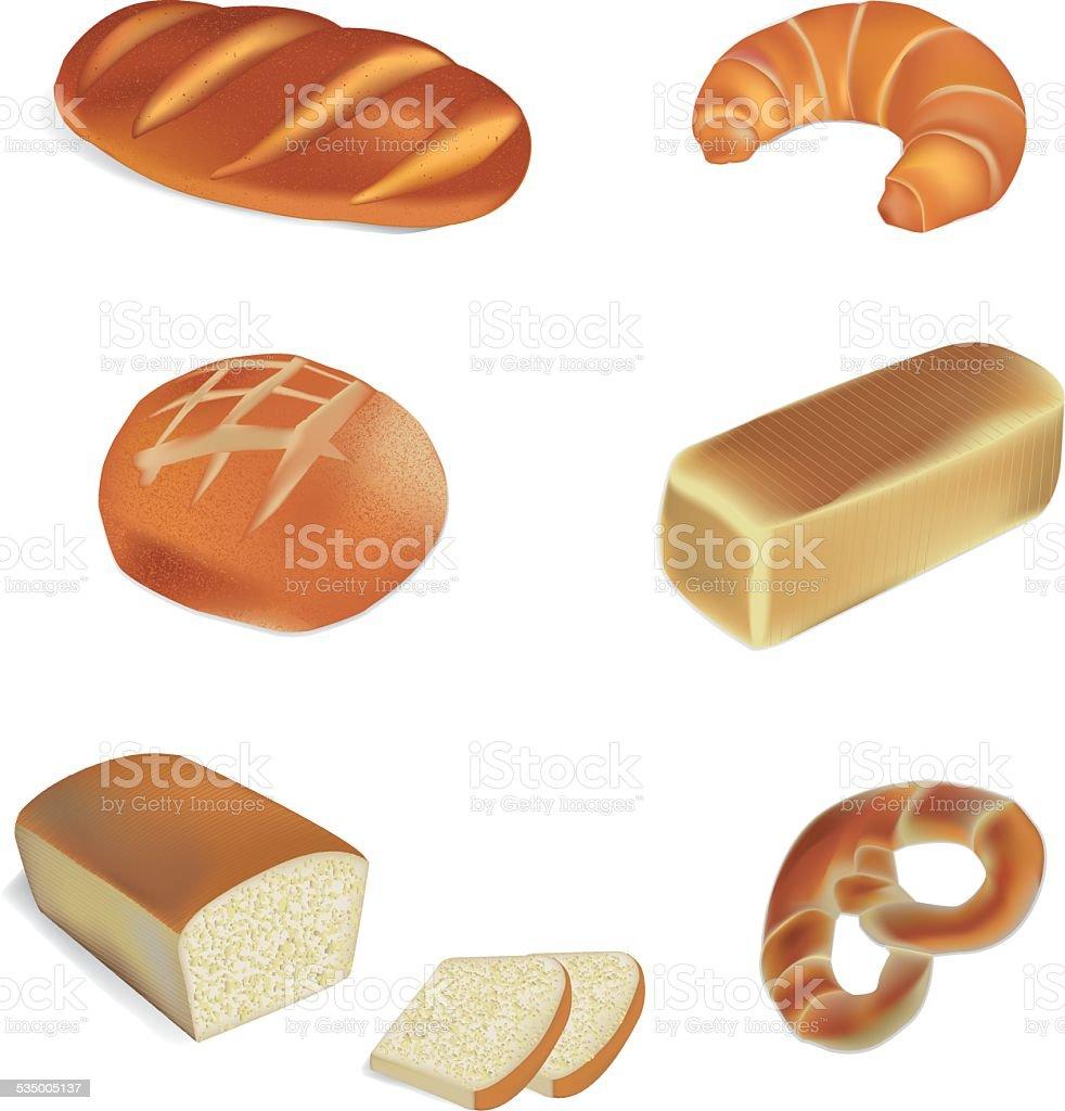 bakery and bread vector illustrations vector art illustration